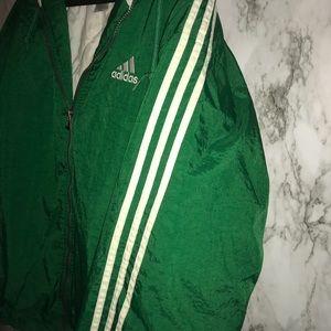 adidas Jackets & Coats - Adidas vintage green windbreaker size L